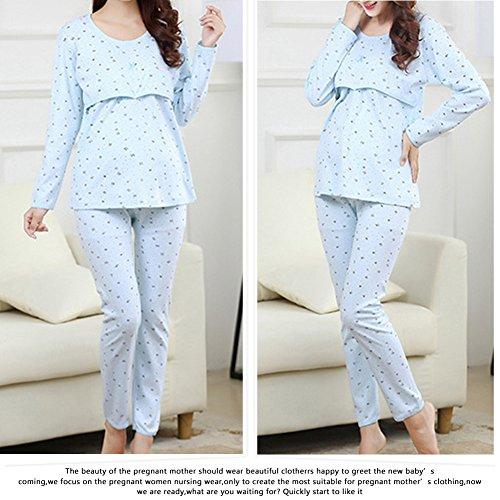 f3822b9ec ... Samber Pijamas para Mujer Embarazada de Maternidad Conjunto de Ropa de  Casa Otoño e Invierno ...
