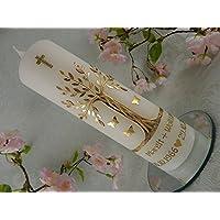 Hochzeitskerze Lebensbaum gold G