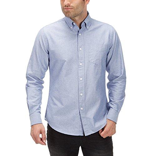 Charles Wilson Langärmliges Oxford Freizeithemd (Small, Blau) (Casual-oxford-hemden)