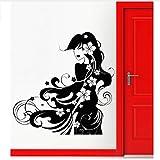 Yangll Wandaufkleber Vinyl Aufkleber Geisha Hot Sexy Orientalischen Mädchen Salon Home Decor Fenster Schaufenster Decals Removable Wandbild