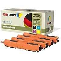 Kit 4 TONER EXPERTE® 126A CE310A CE311A CE312A CE313A Toner compatibili per HP Colour Laserjet CP1025 CP1025nw CP1020 M175a M175nw Pro 100 M175 MFP M175a M175nw M275 TopShot M275