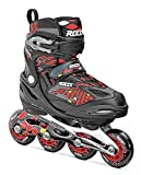 Roces Kinder Inlineskates Moody 4.0, Black-Red,Yellow, 36-40, 400777-001