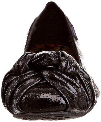 Rocket Dog Amery, Ballerine donna nero (Schwarz (Black Crinkle Patent))