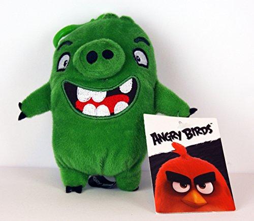 Angry Birds - Plüschtier - mit Anhänger / Clip / Schlüsselanhänger - Pig - ca. 13cm / für Rucksack, Schulranzen, Schultasche -