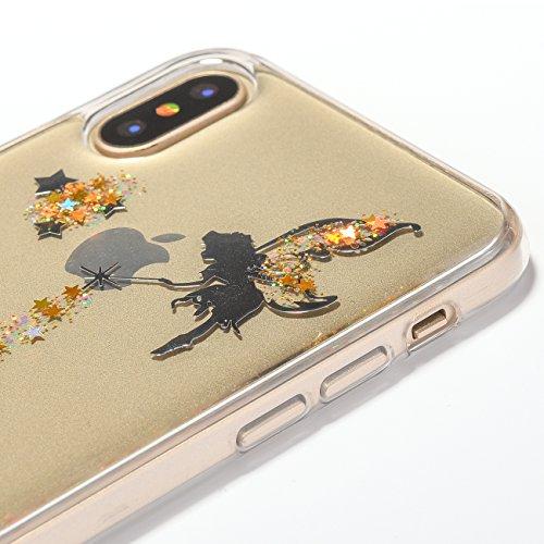 Cover Custodia la iPhone X / iPhone 10 silicone,Vandot 3D Creativo Cute Cartoon Animale Bulldog Copertura Elegante e Leggera Custodia Ultra Slim Modello TPU Gel Silicone flessibile Protettivo Skin Pro Bling 4