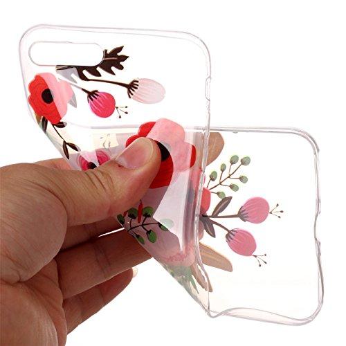 Coque iPhone 7 Plus,Coque iPhone 8 Plus Gel de Silicone Housse,AyiHuan Ultra-Thin TPU Protecteur Souple Transparente Coque Back Case Cover pour Apple iPhone 7 Plus /iPhone 8 Plus,L4 L11