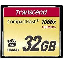 Transcend TS32GCF1000 - Tarjeta de memoria Compact Flash de 32 GB (Ultimate)