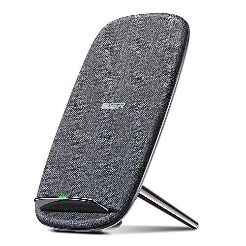 ESR 7.5W/5W Wireless Charger kompatibel mit iPhone 11/11 Pro/11 Pro Max/XS/XR/X/8/8+,Samsung S10/S10+/S10e/Note 10 Plus/S9/S9+/S8/S8+ usw.(Dunkelgrau)