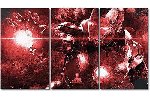 """WandbilderXXL ® Leinwandbild \""""Iron Man\"""" 180x100cm - in 6 verschiedenen Größen. Gedruckt auf Leinwand und fertig gespannt auf Keilrahmen. Leinwandbilder zu Top Preisen."""
