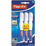 BIC Tipp-Ex Shake`n Squeeze - Pack de 2 + 1 bolígrafos correctores líquidos, 8 ml