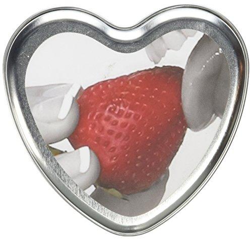 Irdischen Körper 3in 1Essbare Massage Herz Candle Strawberry (Irdischen Körper)