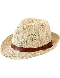 Cappello da Sole per Donna Cappello di Paglia - Moda Cappello Stile Panama  Estivo c456241e3962