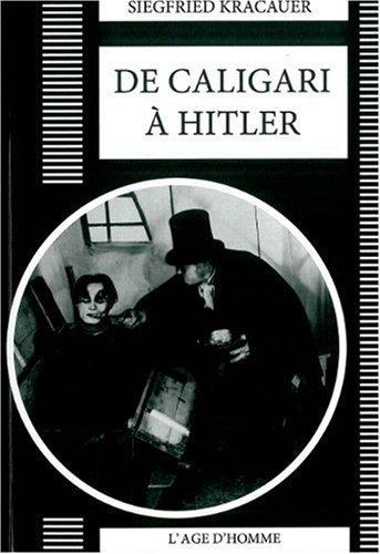 De Caligari à Hitler : Une histoire psychologique du cinéma allemand de Quaresima, Leonardo (2009) Broché
