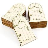ROSENICE 25 Stück Fee Tür Holzscheiben Unbemalt für Basteln Dekoration