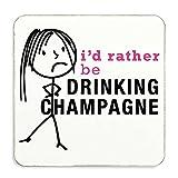 Damen Rather Be Trinken Champagner Untersetzer Frau Geschenk Neuheit Geburtstag Weihnachten Valentinstag Geschenk
