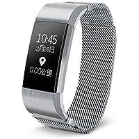 Hangang Bluetooth Smart-Armband Smart-Armband mit Herzfrequenz Blutdruckmessgerät, wasserdicht, Multifunktions... preisvergleich bei billige-tabletten.eu