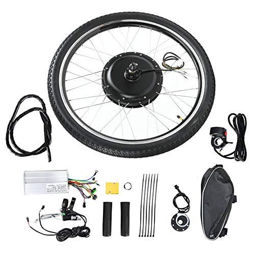Caredy Kit de Bicicleta eléctrica, 48V 1000W 26 Pulgadas Rueda Delantera/Trasera E-Bike Cycle Motor Motor Kit de conversión de Ebike Kit de conversión de Ebike(Predecesor)