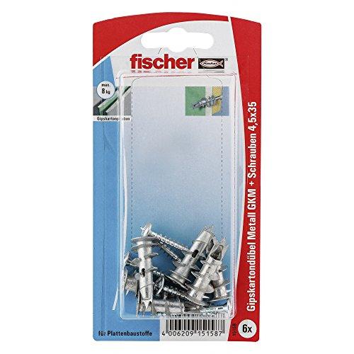 fischer-15158-gkm-sk-plasterboard-fixing-metal-multi-colour-6-piece