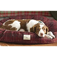 Orvis Comfortfill Original Round Dog Bed / Large Dog Bed - Dogs 45-70 Lbs., Field Tartan,