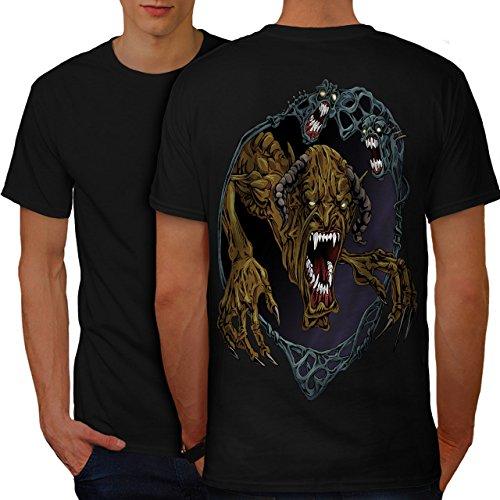 Monster Halloween Horror Schlecht Monster Herren S T-shirt Zurück | - Monster Halloween-burger