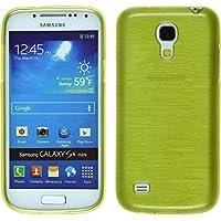 Funda de silicona para Samsung Galaxy S4 Mini - brushed verde pastel - Cover PhoneNatic Cubierta + protector de pantalla