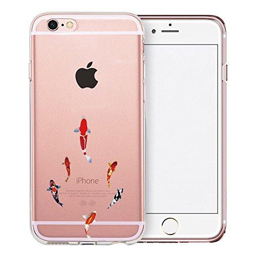 iPhone 6S Hülle, TrendyBox Transparent Weiche TPU Ränder mit hartem PC Rückdeckel Schutzhülle Hülle für iPhone 6/6S mit Gehärtetem Glas Displayschutzfolie (Bunte Musik) 120