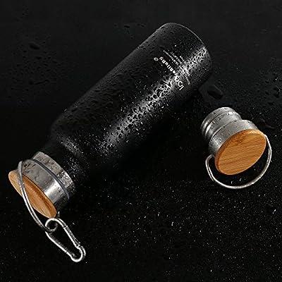 iParaAiluRy Trinkflasche Edelstahl BPA Freie Thermosflaschen 500/600/750/1000ml von iParaAiluRy - Outdoor Shop