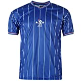 Chelsea FC 1982 Home Jersey Score Draw Mens Royal Retro Football Soccer Shirt