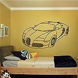 yiyiyaya Se précipita New Wall Room Decor Art Vinyle Autocollant Mural Decal Vitesse De Voiture Garçon Supercar Auto Amovible Mur Vinyle Autocollant café 58 x 98 cm