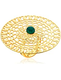 Ahilya jewels Filigree Collection .925 Sterling Silver Gold Plated Ring