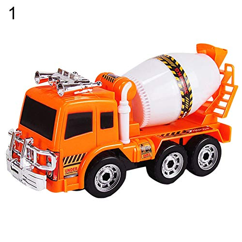 Creative Educational Toys for Kids Children-Mini Kids Boys Electric Excavator Engineering Van Toy Music Sound Vehicle Model