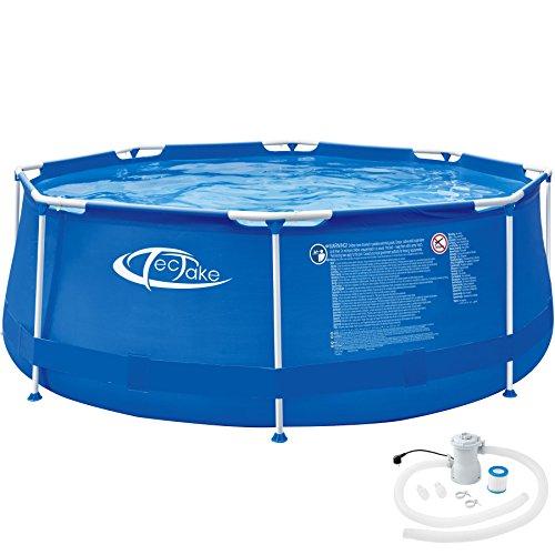 TecTake 800580 - Swimming Pool, Leichter Auf- und Abbau, Robuste und Starke Folie - Diverse Modelle (Typ 2 | Nr. 402895)
