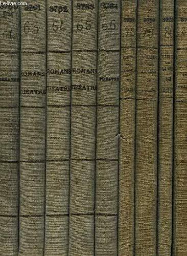Lot de 9 Recueils de Pièces de Théâtre et Romans Divers, extraits de