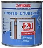 2in1 Türen und Fensterlack weiss inkl. Pinsel von E-Com24 zum Auftragen und 1 Paar Nitrilhandschuhe (2 in 1 375 ml seidematt)