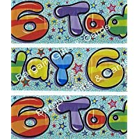 Expression Factory Age 6 Birthday Party Banner 2.6M Long Suit Girl Or Boy 6Th