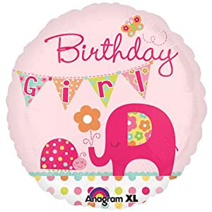 Amscan International Bday Girl Elephant (Pink)
