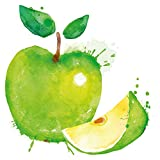 Wandtattoo Küche Grüner Aquarell Apfel Obst Wandsticker Gemüse Aufkl