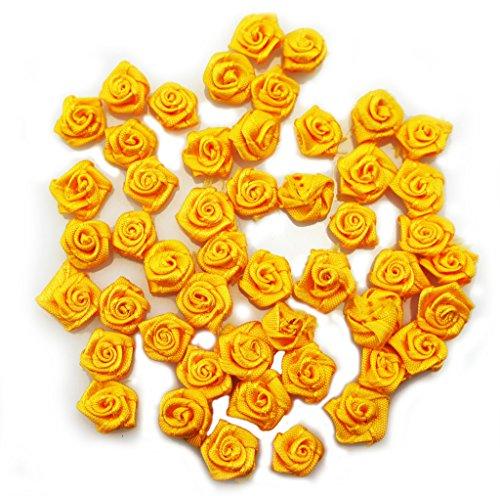 MANO piuttosto piccolo fiocco fiore cucire su finiture per abbigliamento