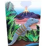 Little Fingy Fingerpuppen Karten Geburtstag Kinder Handgestrickt Rowdy Rex Dino 18x12cm