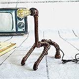 Desk Lamp Ferro artigianale vernice lucidatura taglio saldatura Nordic semplice vento industriale creativo tubo dell'acqua giraffa lampada da tavolo decorativa pittografica lampada da parete lampada d