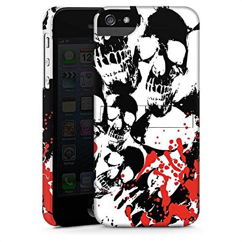 Apple iPhone X Silikon Hülle Case Schutzhülle Skull Blood Totenköpfe Premium Case StandUp