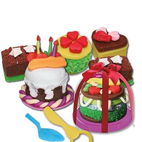 Aptafêtes - JO4032 - Pate Dough à Modeler Mini Gâteau d'anniversaire - Taille Unique