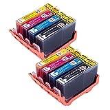 8 compatibile 364XL cartucce d'inchiostro capacità per HP Photosmart 5510 5511 5512 5514 5515 6510 6512 6515 7510 7515 B010a B109a B109d B109f B110a B110c B110e HP Photosmart Plus B209a B209c B210a B210c HP Deskjet 3070A 3520 Officejet 4610 4620