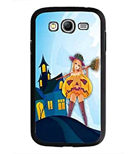 PrintDhaba Girl with Broom D-3288 Back Case Cover for SAMSUNG GALAXY GRAND NEO PLUS (Multi-Coloured)