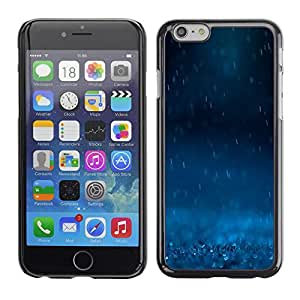Omega Covers - Snap on Hard Back Case Cover Shell FOR Iphone 6/6S (4.7 INCH) - Rain Blue Dark Nature Powerful Sad