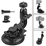 Homeet Soporte de ventosa Car Soporte con Ventosa Dash Mount Car Holder con Adaptador de Trípode para GoPro Hero 5/ 4 /3+/3/ Session Garmin Virb XE Xiaomi Yi 4K