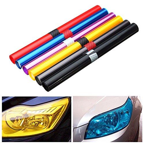 JenNiFer 30X100 cm Auto Licht Farbton Film Aufkleber Wrap Für Scheinwerfer Nebelscheinwerfer Rücklicht - Blau