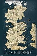 Game Of Thrones Póster Map Incluye Artículo adicional)