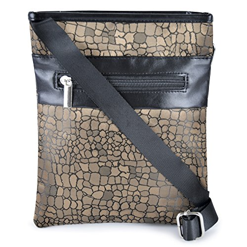 Style It Up Ltd ,  Damen Tornistertasche , braun - Brown - Animal - Größe: One Size