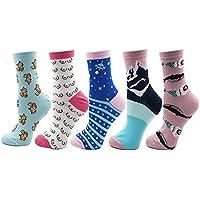 FHCGWZ 5 Teile/Satz Frauen Socken Bunte Lustige Fuchs Brust Berg Fuji Universum Muster Harajuku Socke für Mädchen